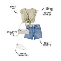 #capsulewardrobe #summerfashion Capsule Outfits, Fashion Capsule, Capsule Wardrobe, New Outfits, Summer Outfits, Fashion Outfits, Teen Fashion, Bathing Suit Shorts, Dress Hats