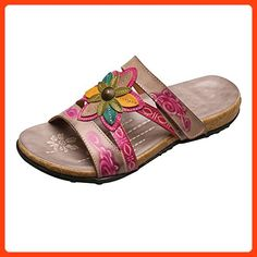 aa67e4a69 Women s Tobago Sandals - Painted Leather Floral Uppers - 1