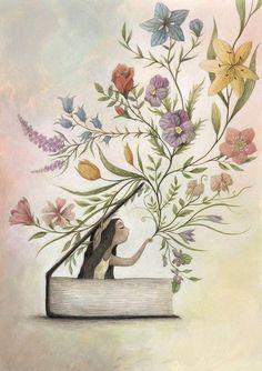 Nunca sabemos que sorpresa nos depara el libro (ilustración de Francesca Dafne…