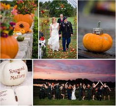Thismagical pumpkin themed wedding was planned in just over a month! Raymond discovered he was to be posted to Afghanistan and wanted to marry Mallory before he was deployed.I didn't know whether to smile or shed a tear when I first glimpsed these stunning outdoor wedding photos. Hats off to
