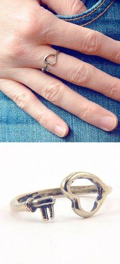 Skeleton Heart Key Ring <3