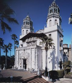 Hearst Castle was built for publishing tycoon William Randolph Hearst high on a hill half way between San Francisco and Los Angeles and was completed in 1947. Hearst Castle was the inspiration for the 'Xanadu' mansion of the 1941 Orson Welles film Citizen Kane, which was itself a fictionalization of William Randolph Hearst's life.