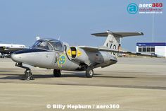 SAAB SK60 of the Swedish Air Force Historic Flight at Jersey Airport #military #jet #fighter #single #classic #aircraft #egjj #sweden