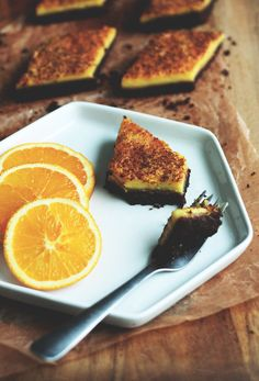 Chocolate Orange Bars ~ From the Land we Live on