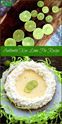 Authentic Key Lime Pie Recipe with Gluten Free Option This authentic key lime pie recipe has been tested in my kitchen, resulting in a thick, creamy, very lime centered flavor with a stabilized whipped cream. Key Lime Desserts, Köstliche Desserts, Gluten Free Desserts, Gluten Free Recipes, Delicious Desserts, Dessert Recipes, Layered Desserts, Vegan Recipes, Yummy Food