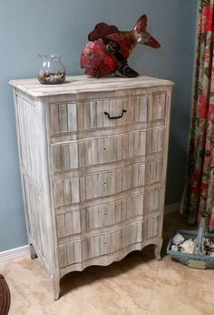 Redone Antique Dresser with Driftwood Finish