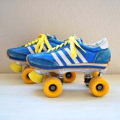 Sneaker Skates, yes I had a pair of these in the 80's. EXACTLY like these!!  :)
