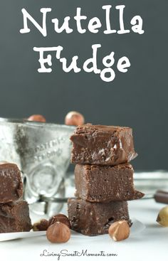 This nutty Nutella Fudge Recipe is easy to make and so decadent! Enjoy a soft, chewy texture that melts in your mouth. I mix in chopped hazelnuts for a more predominant flavor.