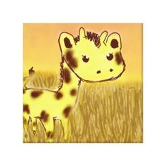 Shop Cute Giraffe Birthday Card created by joacreations. Giraffe Birthday, Cute Giraffe, Birthday Board, Birthday Invitations, Pikachu, Art Projects, Nursery, Canvas Prints, Disney Princess