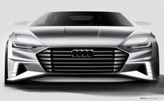 "A ""design with dynamic elegance"" is how Audi is describing its new prologue Avant concept car, which is being unveiled next week at the Geneva motor show. The design study gives another glimpse into the future of Audi design just four months after the […] Car Design Sketch, Car Sketch, Diesel Hybrid, Cool Car Drawings, Audi Cars, Automotive Design, Auto Design, Car Wheels, Transportation Design"