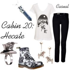 """""""Hecate"""" by ellalea on Polyvore  Holy Shit! - I mean Oh my Gods! (lol) those are the coolest shoes I've ever seen!!"""
