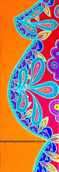 www.etsy.com/shop/thegirlwithpaint  mandala, pregnancy art, blooming, boho style