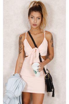 Vestido Cute Nó Rosa Fashion Closet - fashioncloset