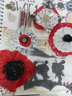 Collection of handstitched,medal samples by Beth Hurlin,(FAD) linking poppies with medals as a theme. Ww1 Art, Textiles Sketchbook, War Medals, Matchbox Art, Make Do And Mend, Remembrance Day, Yarn Bombing, Sketchbook Inspiration, Community Art
