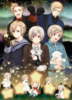 Tags: Anime, Cross, Axis Powers: Hetalia, Denmark, Sweden, Finland, Norway