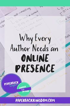 (Why Every Author Needs An Online Presence // Paperback Kingdom) Being an author is not all about writing books. In fact, writing the book just a small part of the overall process. You see, when you're a writer, you're a writer. But when you're an author, you become a whole lot more than just a writer— you become a brand.