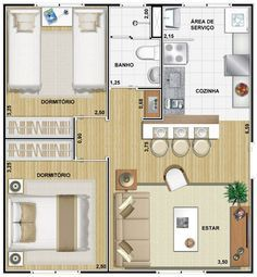 Master Boat Builder with 31 Years of Experience Finally Releases Archive Of 518 Illustrated, Step-By-Step Boat Plans Small Apartment Plans, Apartment Floor Plans, Apartment Layout, Small Apartments, Small House Layout, House Layout Plans, Small House Design, House Layouts, Two Bedroom Tiny House