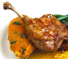 #Duck recipe #Delicious duck  Try this delicious duck recipe with marmalade syrup and sweet potato mash. Your friends will be so impressed : )