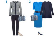 Capsule Wardrobe business travel capsule wardrobe, outfit 1 plus group, note dress is actually a skirt and top!