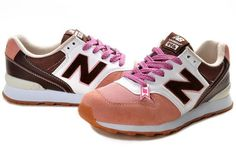 New Balance 996 White Pink Brown Womens Trainers WR996 2012