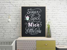 Sugar and Spice chalkboard mint by TheBlackandWhiteShop on Etsy