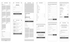 Ecommerce Wireframes for Mobile Web designed by Melissa Washin. Ecommerce App, App Ui, Best Mobile, Mobile App, App Wireframe, Mobile Web Design, Screen Design, Design Process, Ui Design