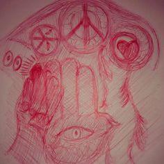 Desenho com caneta Bic.