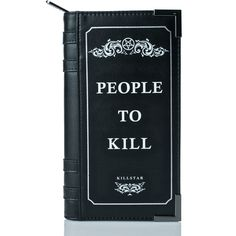 Killstar Kill List Book Wallet (€46) ❤ liked on Polyvore featuring bags, wallets, accessories, killstar, blue wallet, wrap bag, credit card holder wallet and zipper wallet
