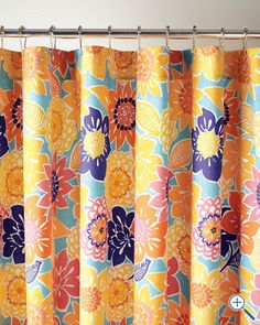 orange floral shower curtain. Catalina Floral Shower Curtain Orange  78 LONG 134 99 via Etsy