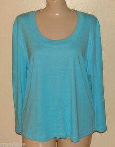 Talbots Women's XL Blue 3/4 Sleeve T-Shirt