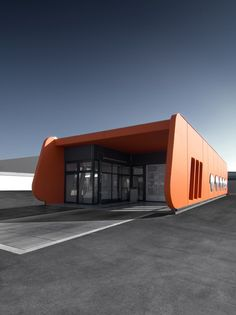 orange box carwash (lindach Duitsland) contributed by isin_architekten - Chicken Houses - Garage Workshop Halle, Car Wash Business, Tyre Shop, Car Radiator, Site Plans, Workshop Design, Garage Workshop, Woodworking Projects Plans, Commercial Design