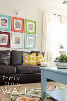 Craftaholics Anonymous® | An art of an idea. Make your home with a photo wall with this tutorial inspiration.