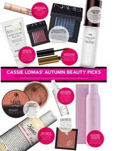 Makeup artist to the stars, Cassie Lomas, shares her autumn beauty must-haves.