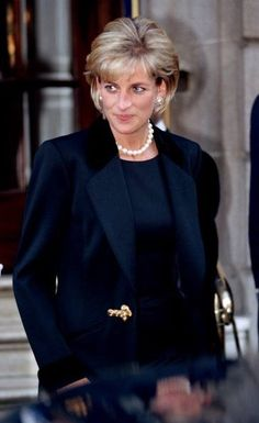 March 9, 1997: Diana, Princess of Wales leaving the memorial service for photographer, Terence Donovan, St. George's Church, Hanover Square.