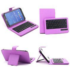 SUPERNIGHT Universal 7-8 Inch Tablet Portfolio Leather Case W/ Detachable Bluetooth Keyboard for Samsung Galaxy Note 8.0 / Tab 2 7.0 / Tab 3 7.0 / Tab 4 7.0 / Tab 3 Lite 7 / Tab 3 8.0 / Tab 4 8.0 / Tab Pro 8.4 / Tab S 8.4 / Acer A1-810 / W3-810 / iPad Mini / New iPad Mini Retina Display / Asus Memo Pad HD 7 / Dell Venue 8 Pro / Nexus 7 / Nexus 7 HD Support Android / IOS / Windows Systems - Purple SUPERNIGHT http://www.amazon.com/dp/B00LSGMIG4/ref=cm_sw_r_pi_dp_8RFwwb15PHHZ3