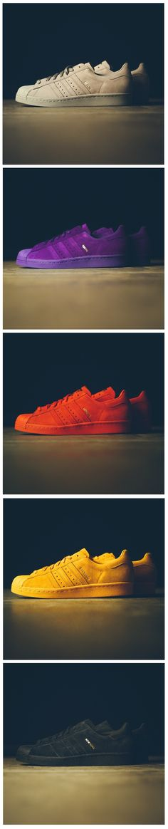 adidas Originals Superstar City Pack| suede is so hard to keep clean, but I'd take a pair.