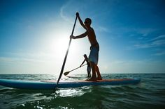SUP or stand-up paddle boarding. Paddle Boat, Paddle Boarding, Kayak Anchor, Offshore Wind, Standup Paddle Board, Sup Surf, Learn To Surf, Yacht Boat, Like A Local