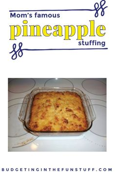 This is a huge hit at Thanksgiving and Christmas with my family. Mom's Favorite Pineapple Stuffing is delicious and such a fun twist on a traditional recipe, to keep meals fun and change them up Thanksgiving Sides, Thanksgiving Desserts, Thanksgiving 2017, Cheap Meals, Easy Meals, Cheap Recipes, Simple Recipes, Cheap Side Dishes, Cheap Sides