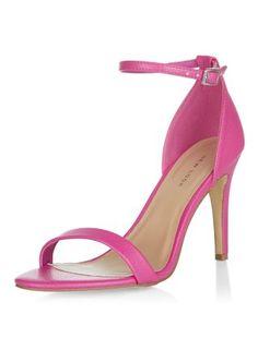 Chaussures rose foncé à talons et brides de cheville   New Look 23€