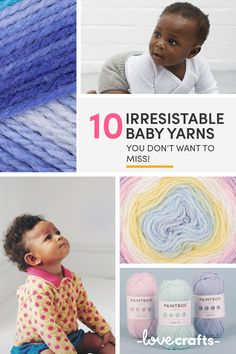 Baby yarns should be soft, snuggly and oh so cozy! To help you out on finding the very best, we've rounded up 10 of the most beautiful baby yarns on the market. Grab them quick! | Shop at LoveCrafts.com