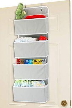 Over The Door Organizer, Hanging Closet Organizer, Hanging Storage, Hanging Shelves, Pocket Organizer, Small Bathroom Organization, Wall Organization, Organizing Ideas, Door Storage