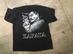 Vtg 90's Emiliano Zapata Hispanic Latino Chicano  shirt gangster revolution 2xl #AlstyleApparelActivewear #GraphicTee