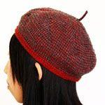 Tunisian crochet beret