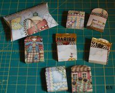 Schachteln aus Kalenderblättern / Boxes made from calendar sheets / Upcycling