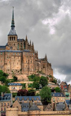 Mont Saint-Michel, Normandy, France. One of my favorite places in France. Old Monestary.
