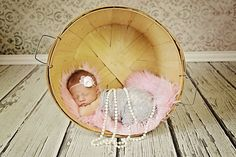 Pink Faux Fur Fabric Nest Long Pile Mongolian Blanket Basket Stuffer Newborns Baby Girl Photography Photo Prop - Ready to Ship. $20.00, via Etsy.
