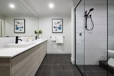 #bathroom #tiles #basin #vanity #bath #newhome #displayhome #yourhome #shower #twoel #relaxing #hotwater #contemporary #art