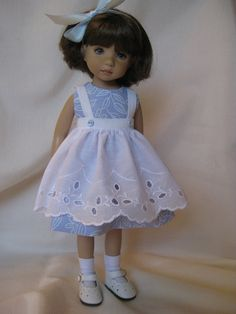 PALE BLUE made to fit 13 Little Darling Effner par darladelight