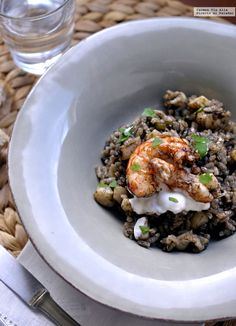Arroces. Negro Paella Valenciana, Cooking Pork Roast, Rice Pasta, Grain Foods, Wine Recipes, Food Inspiration, Love Food, Veggies, Vegetarian