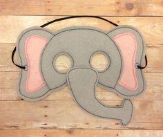 Elefante de infantiles fieltro mascarilla por lilliannamarie